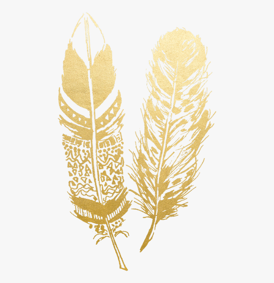 gold #feather #feathers #native #boho #pretty #decals.