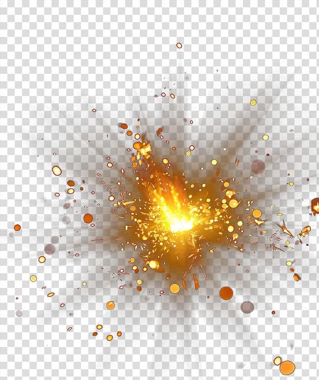 Explosion, Gold explosion flare glare creative creative.