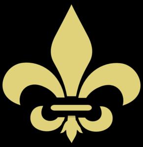Fleur De Lis Gold With Black Clip Art at Clker.com.