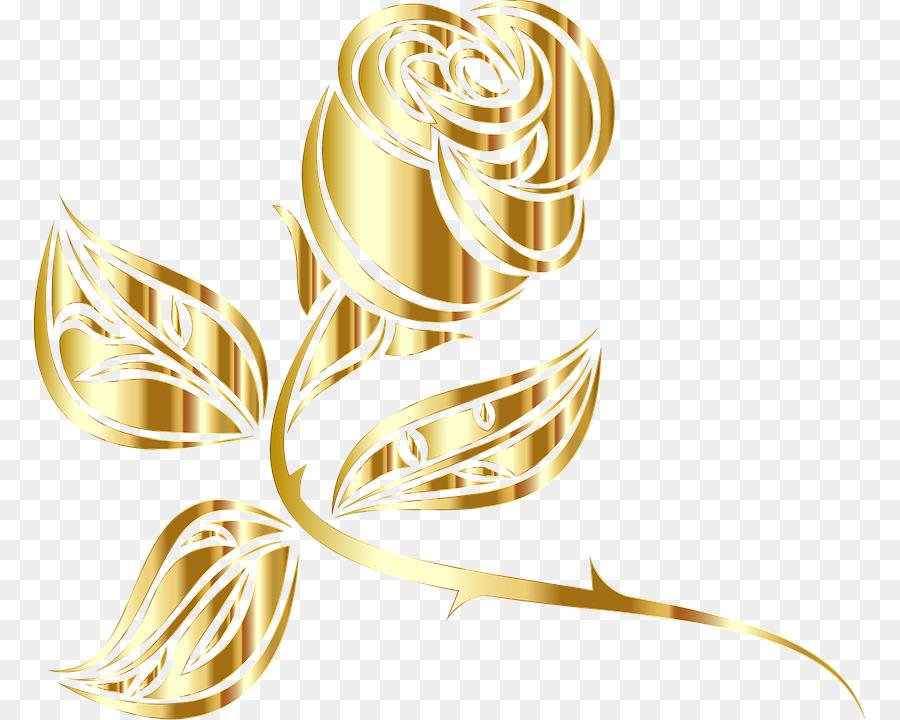 Rose Gold Flower clipart.