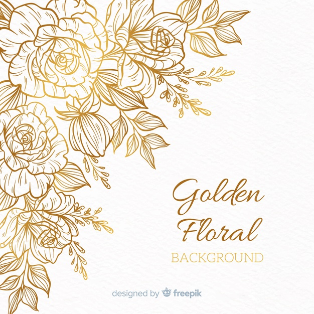 Gold Flower Vectors, Photos and PSD files.