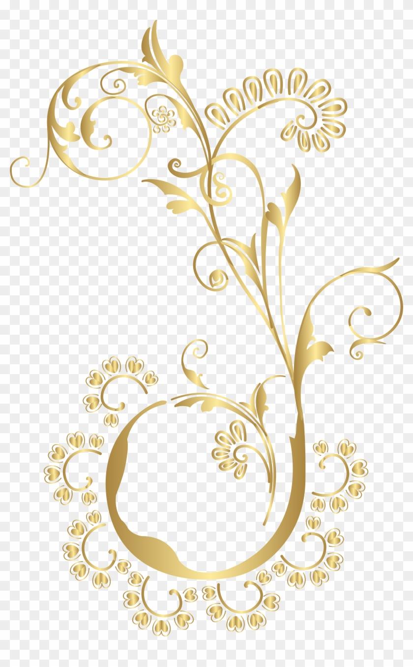 Gold Floral Png Png , Png Download, Transparent Png.