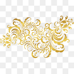 Gold Flowers PNG Images.