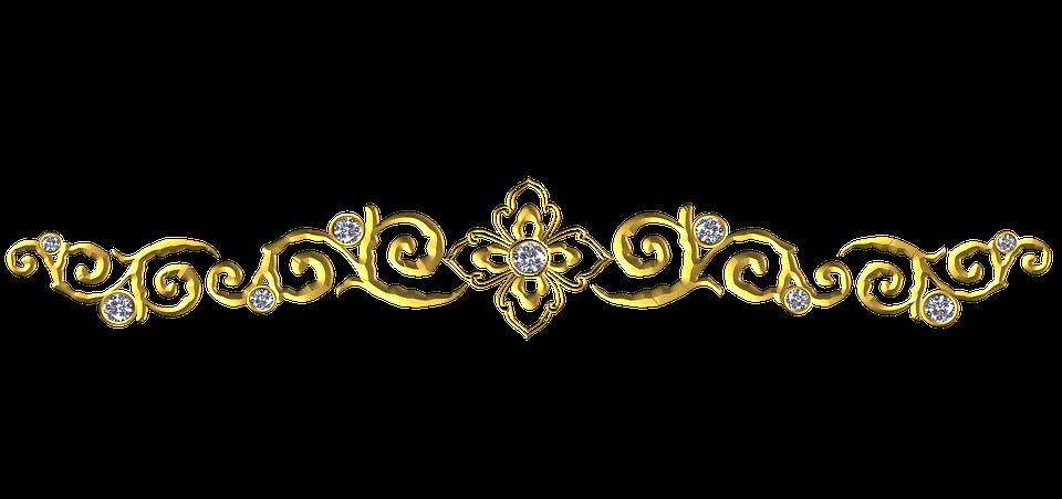 Gold Ornamental Flourish.
