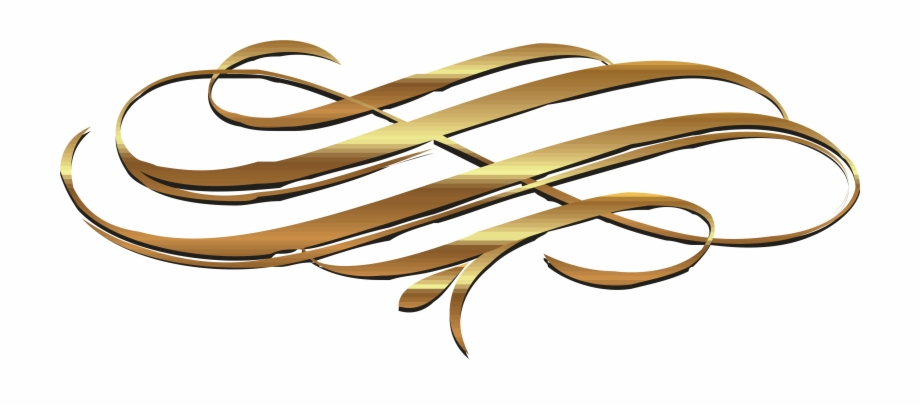 Euclidean Gold Ribbon Transprent Png Free Download.