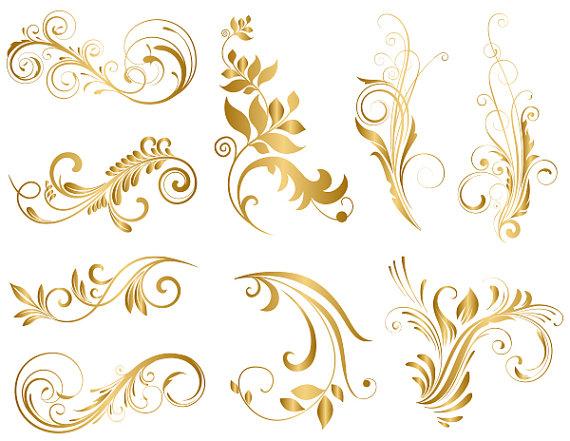 Free Gold Flourish Cliparts, Download Free Clip Art, Free Clip Art.