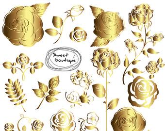 Gold flower clip art.