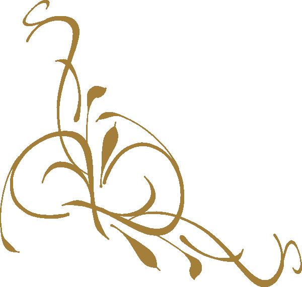 Gold Floral Design Clip Art at Clker.com.