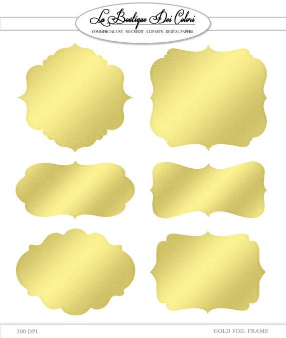 Clip Art Gold Foil Frames Labels tags Digital Frames Digital.