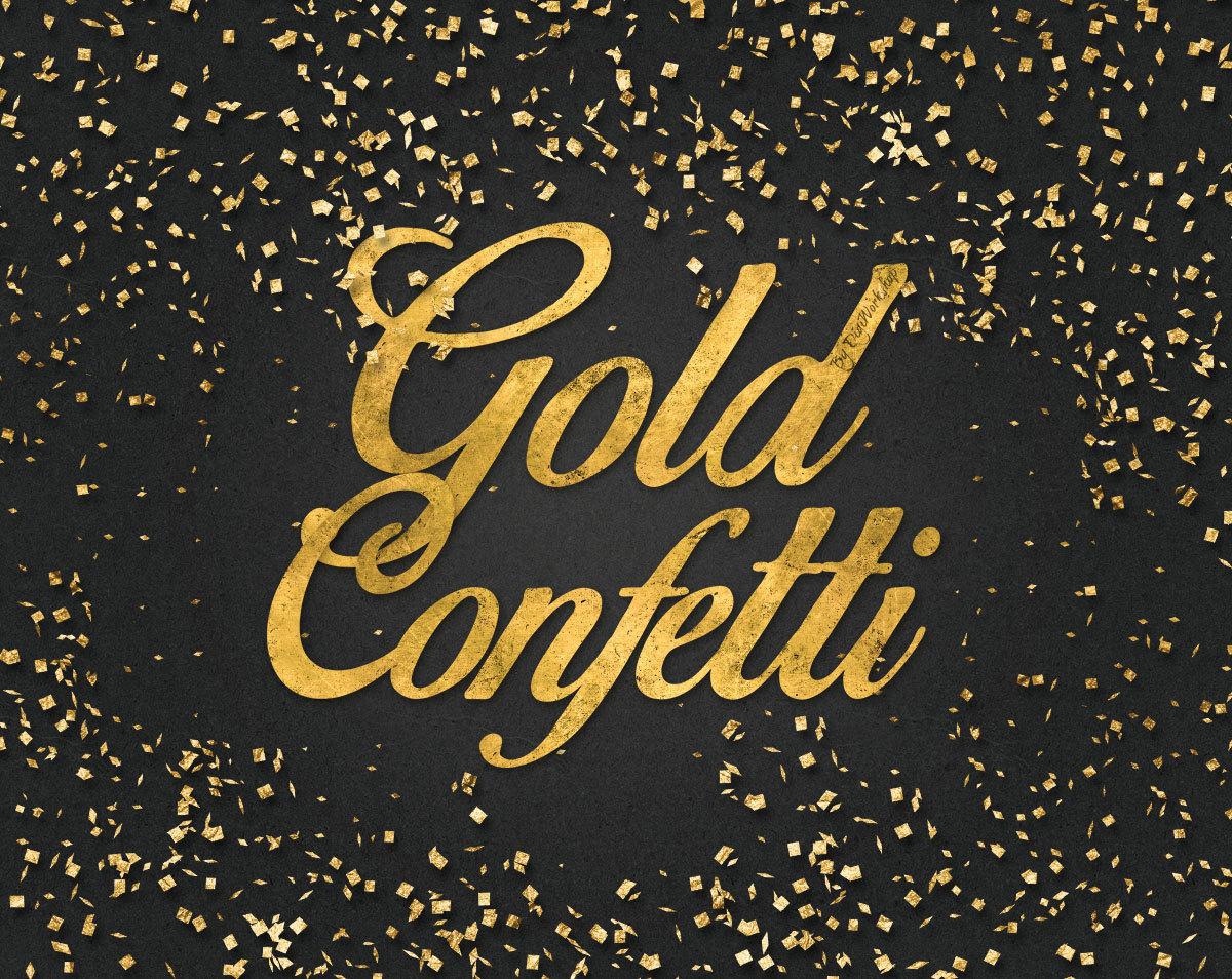 Gold Foil Confetti clip art \