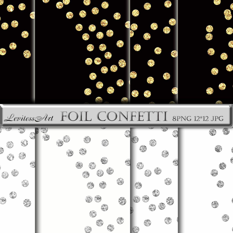 Gold confetti overlay Gold confetti clipart Glitter confetti.