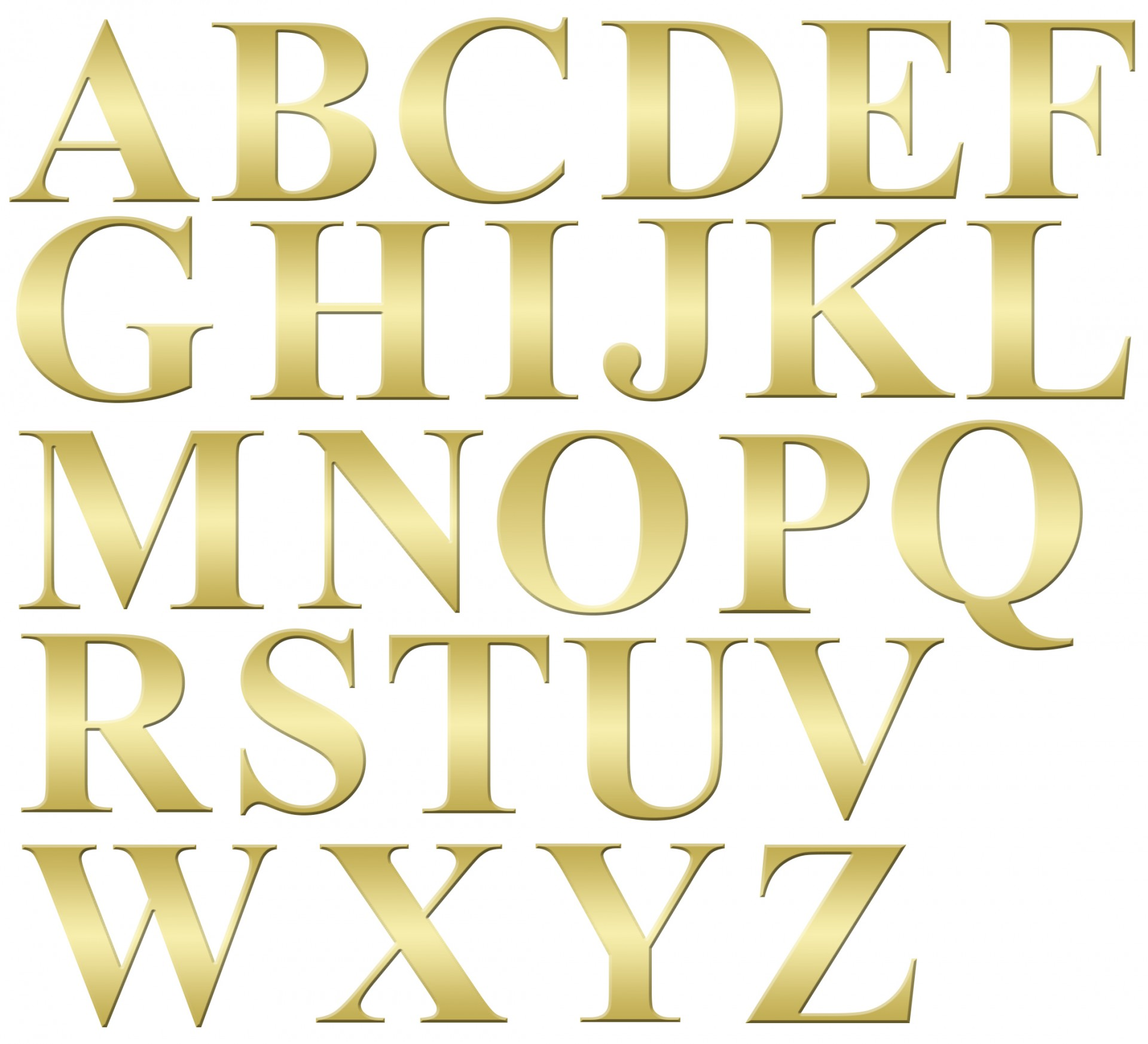 Font clipart letters free.