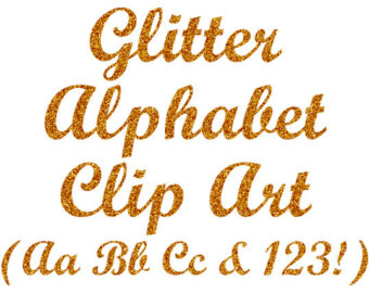 Gold letters clipart.