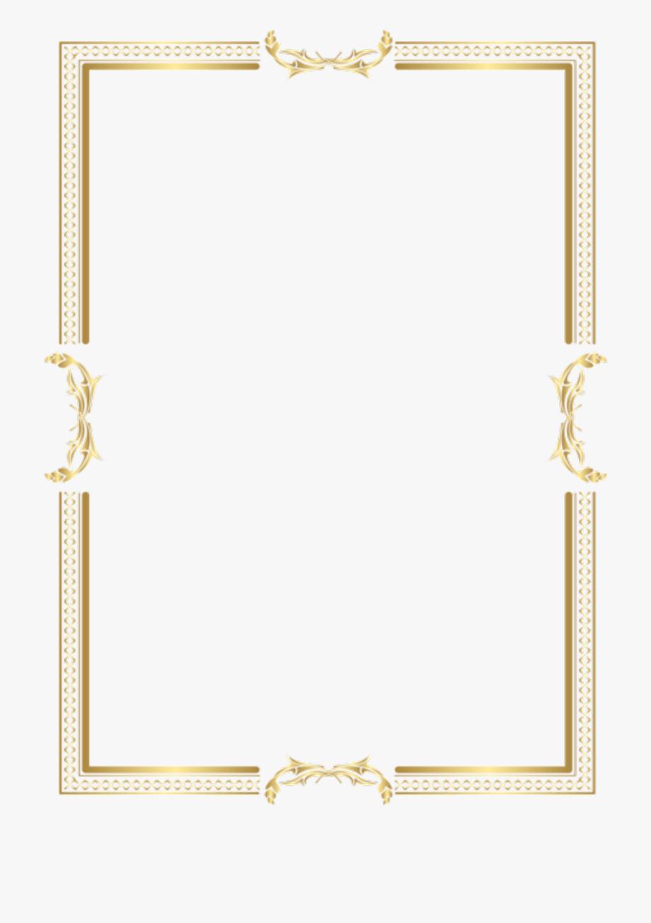 Gold Frame Border Png.