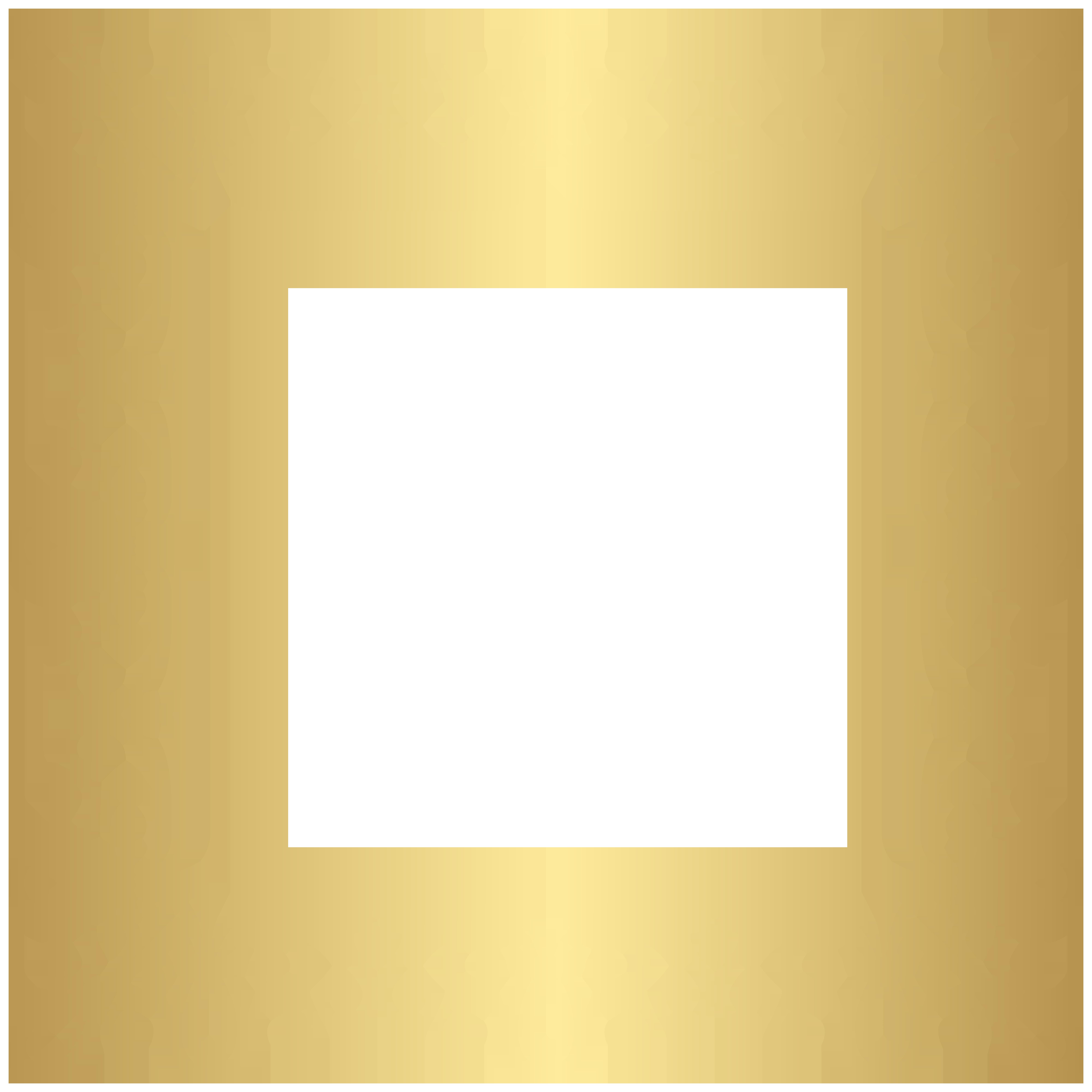 Gold Frame Border Clipart Image.