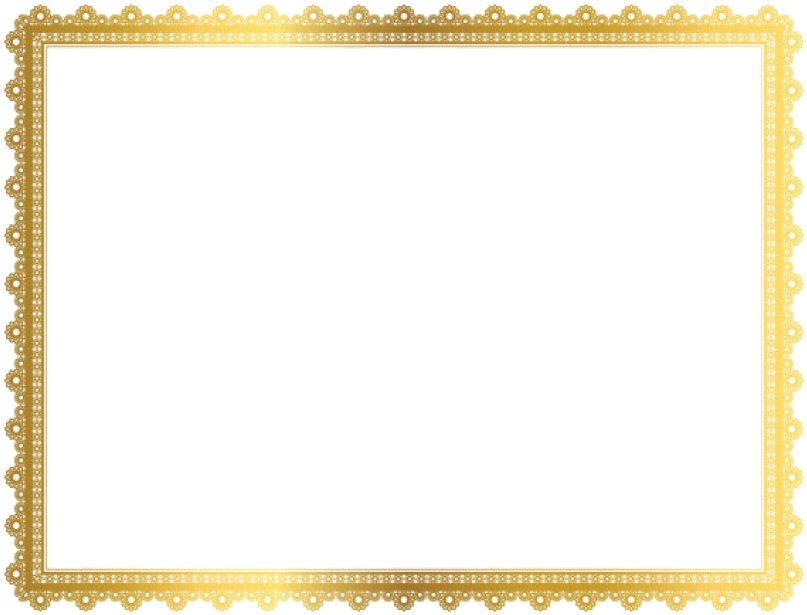 HD Gold Border Frame Png Clipart.
