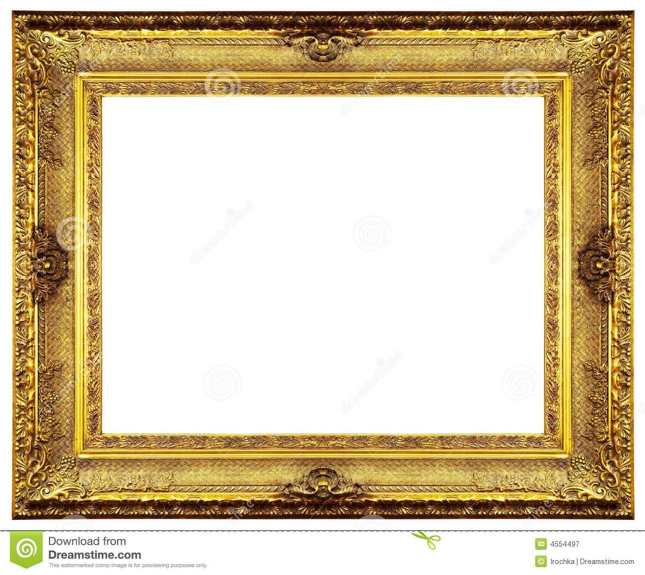 Gold Frame Border Clip Art.