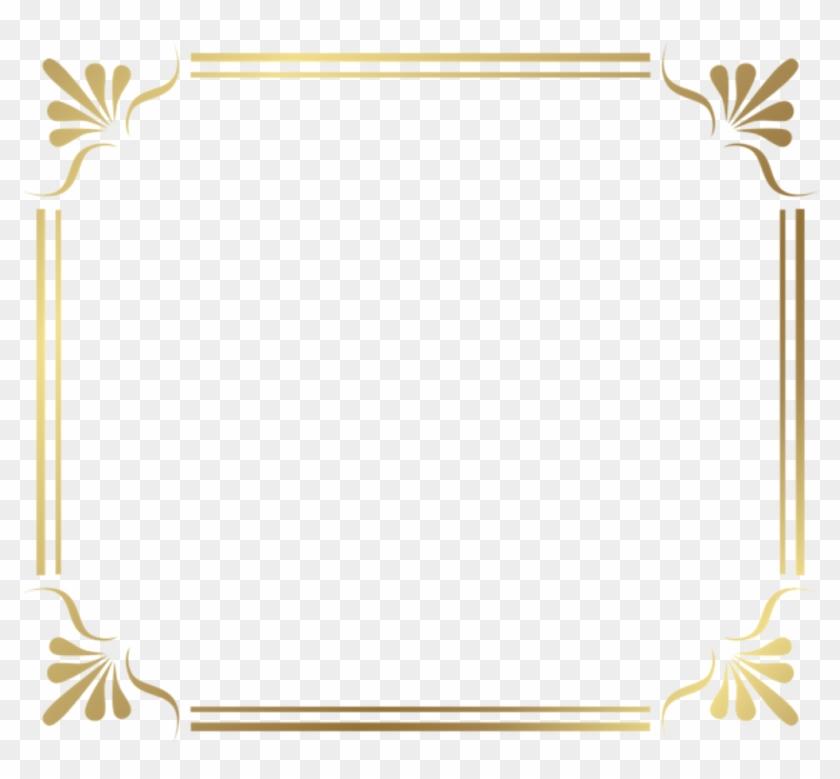 Square Gold Golden Frame Border Squareframe Decoration.