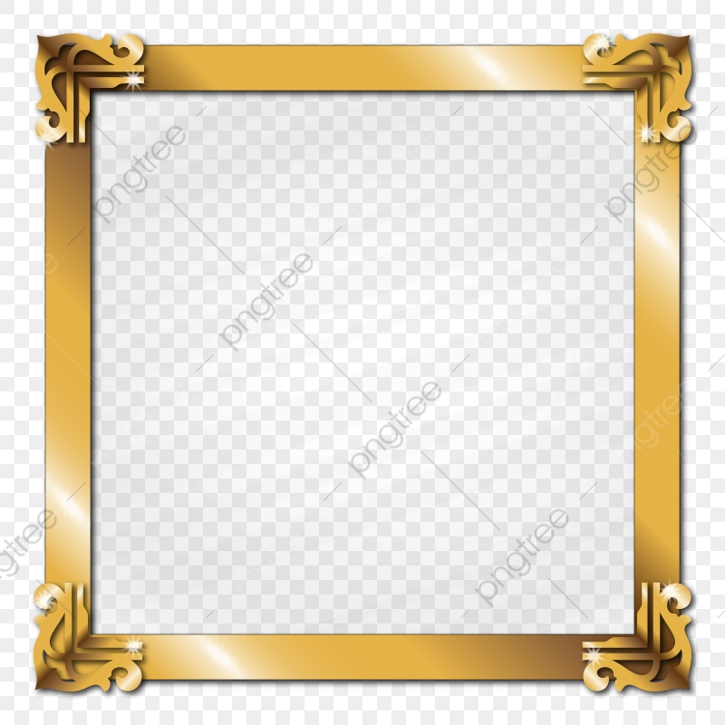 Golden Metal Picture Frame Border Glass Effect, Gold, Golden, Frame.