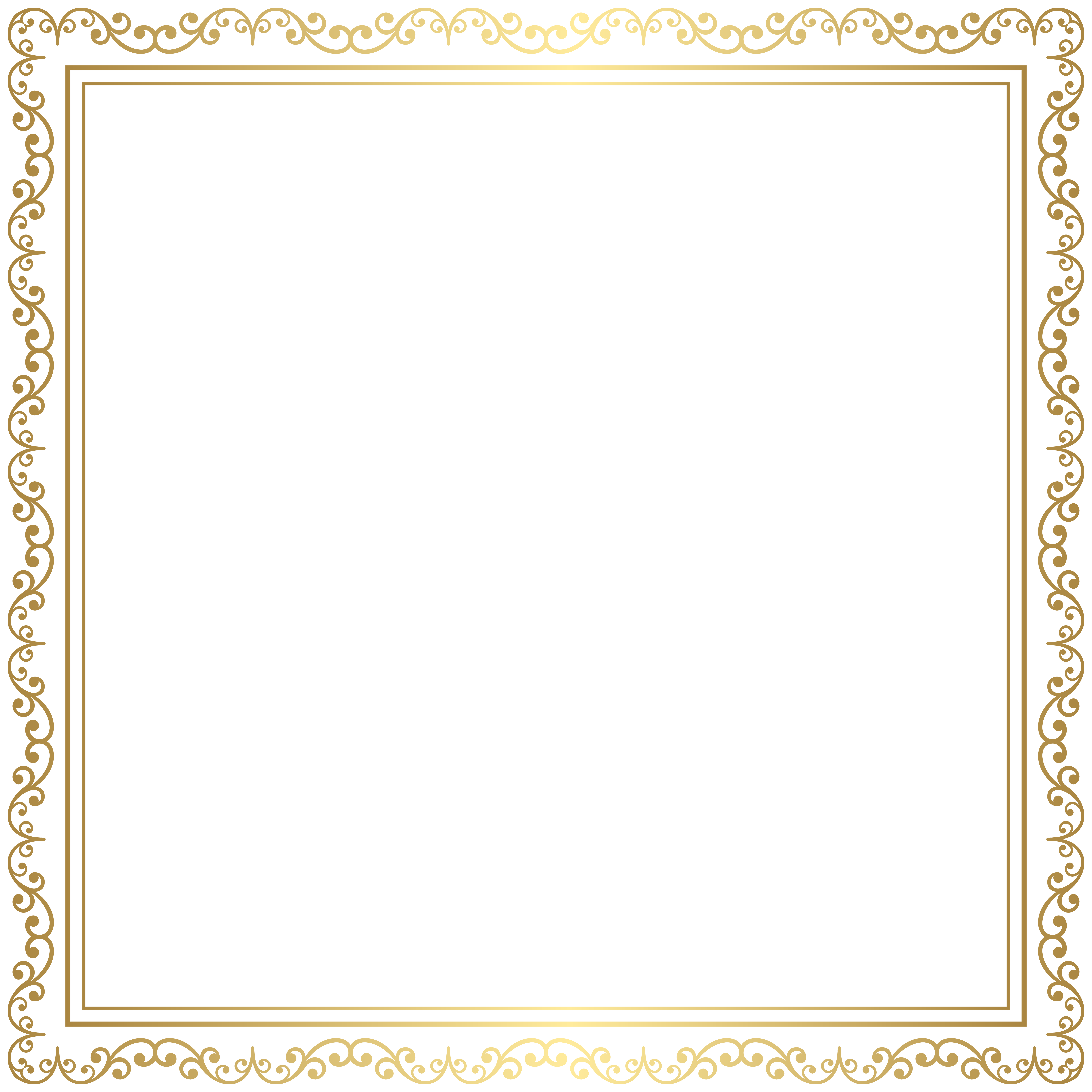 Gold frame transparent background clipart images gallery for free.
