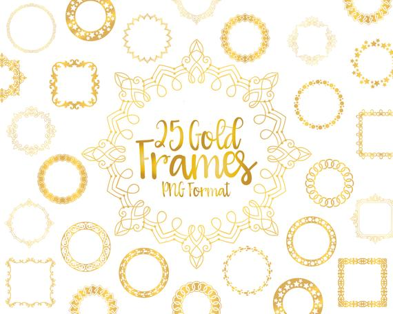 Gold Frame Clipart, Frame PNG, Gold Border, Ornamental Design, Golden  Frame, Digital Gold Frame, Gold Foil Frame, Metallic Frame, Download.