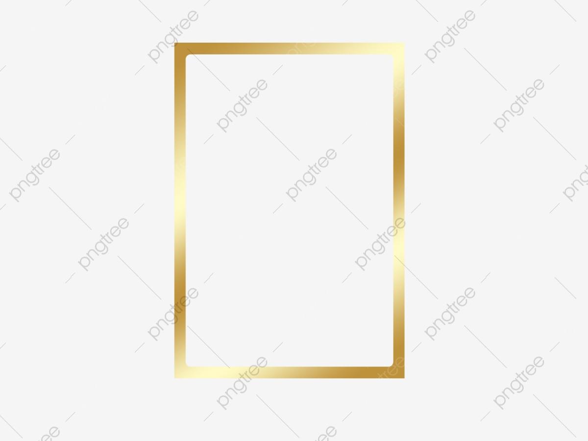 Gold Frame, Frame Clipart, Frame, Decoration PNG Transparent Image.