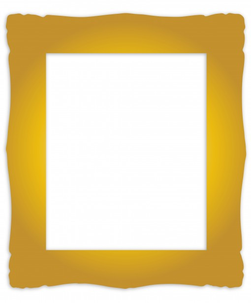 Gold Frame Vintage Clipart Free Stock Photo.