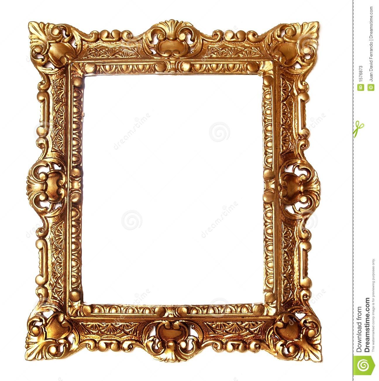Gold Scroll Frame Clip Art.