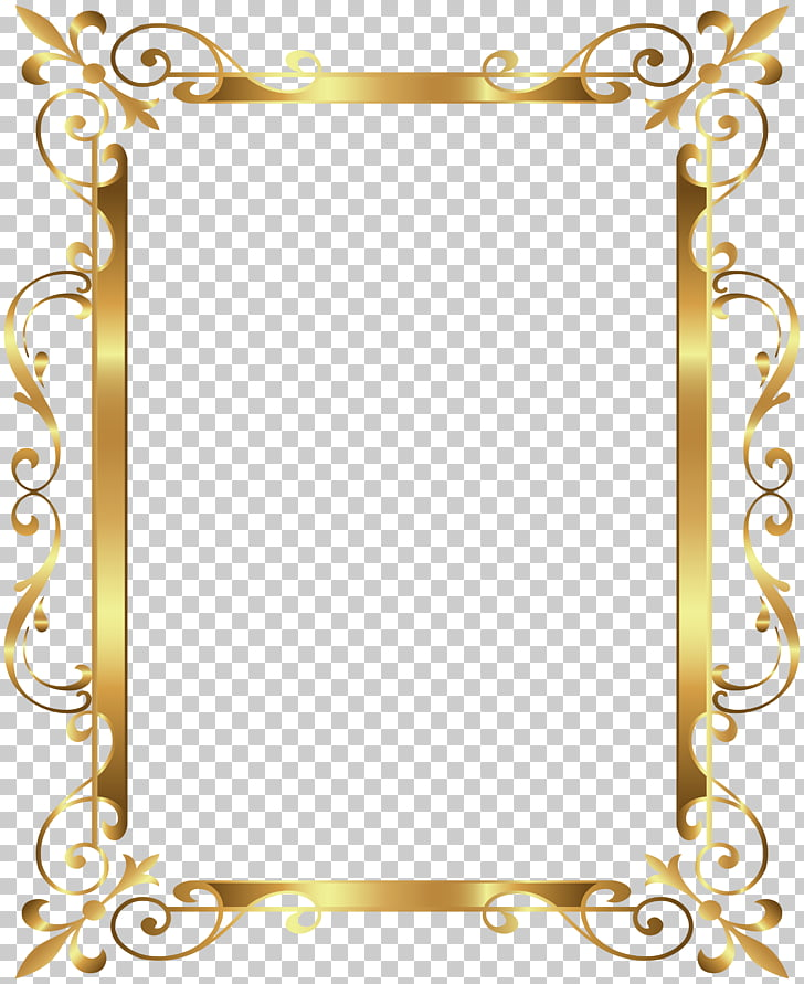 Gold frame , Gold Border Frame Deco Transparent , gold photo.