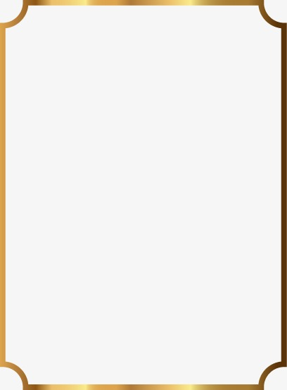 Beautiful Gold Frame, Fine, Golden, Frame PNG and Vector with.