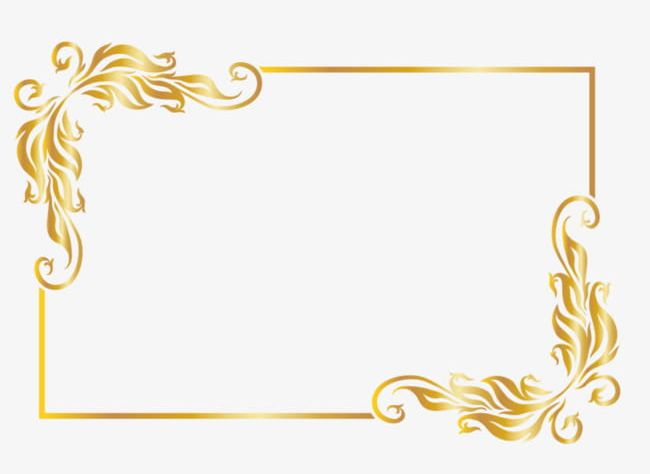 Gold Frame PNG, Clipart, Backgrounds, Boxes, Curled Up, Curve.