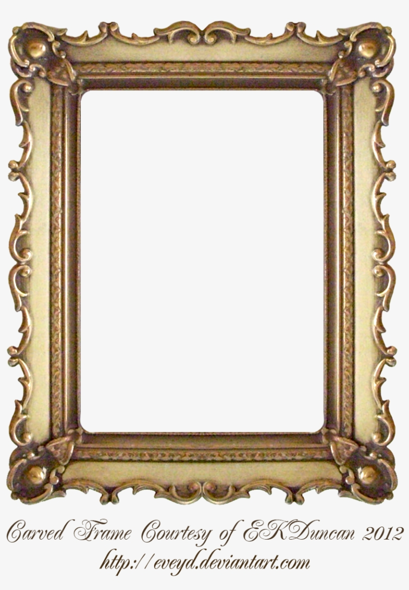 Carved Gold Frame By Ekduncan By Eveyd.