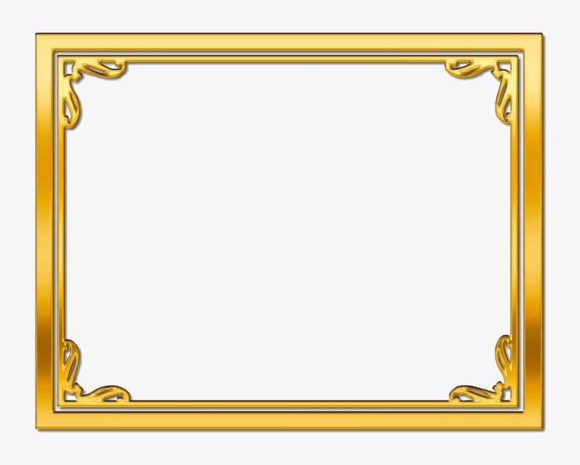 Golden Frame Transpa Image1 Peoplepng Com.