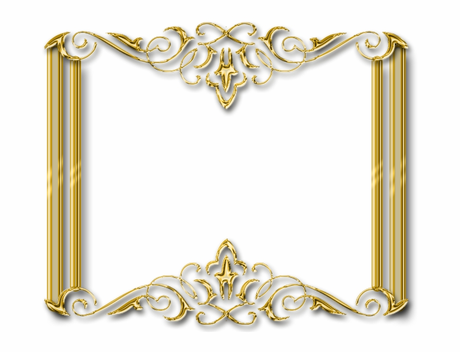 Gold Photo Frame Png.