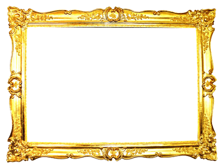 Ornate Gold Frame transparent PNG.
