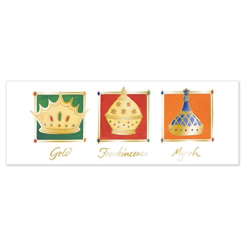 Gold, Frankincense and Myrrh.