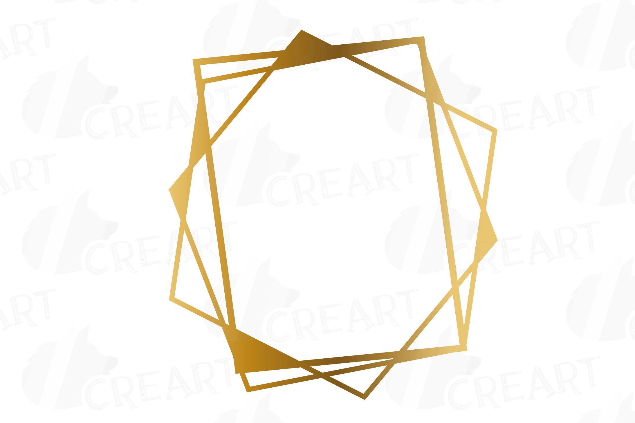Chaotic geometric golden frames, lineal frames clip art.