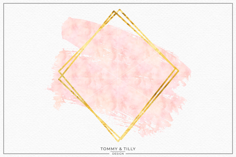 Blush Gold Geometric Frame No.4.