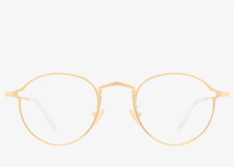 Jordan Gold Oval Glasses.