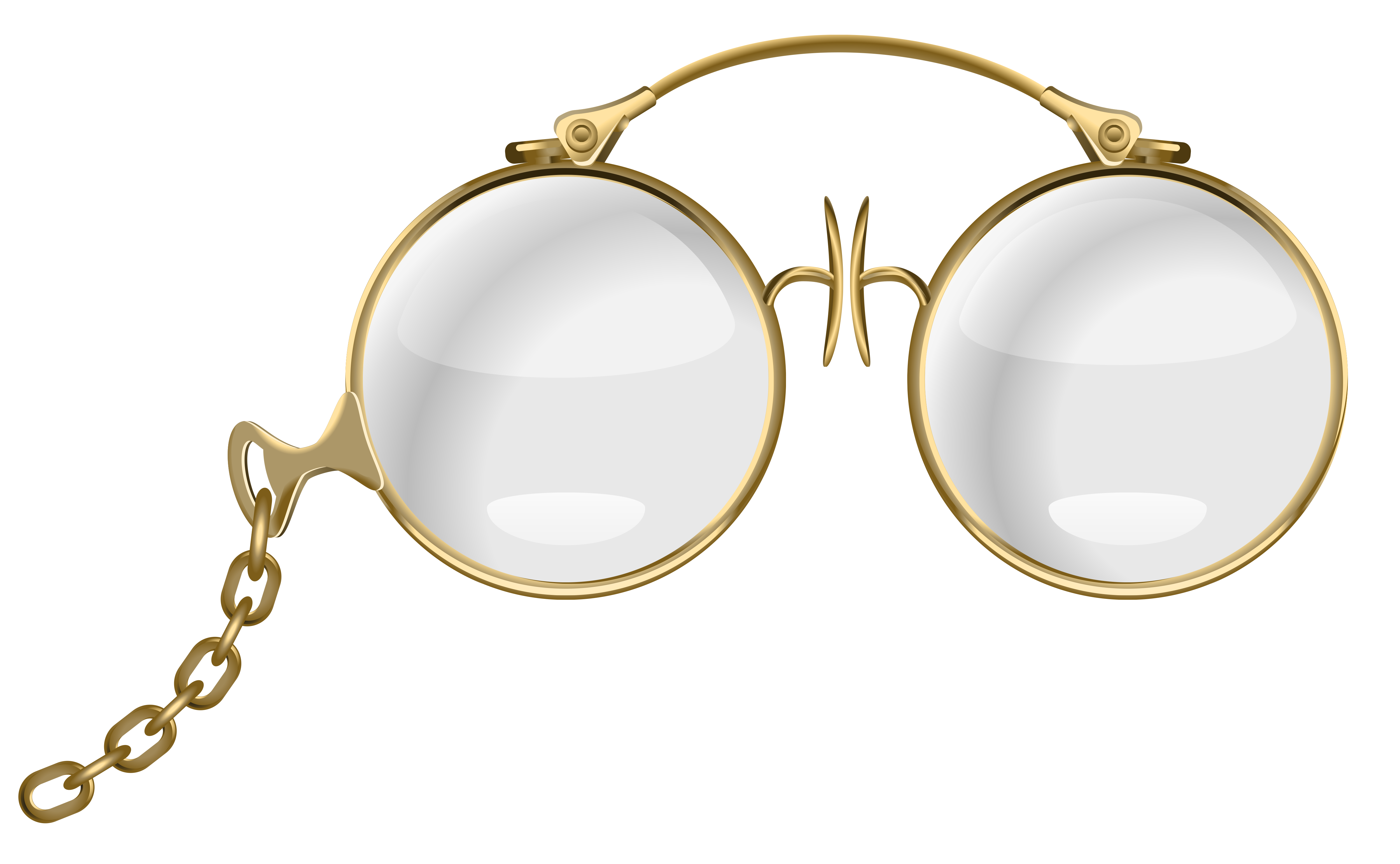 Gold Eyeglasses PNG Clipart Picture.