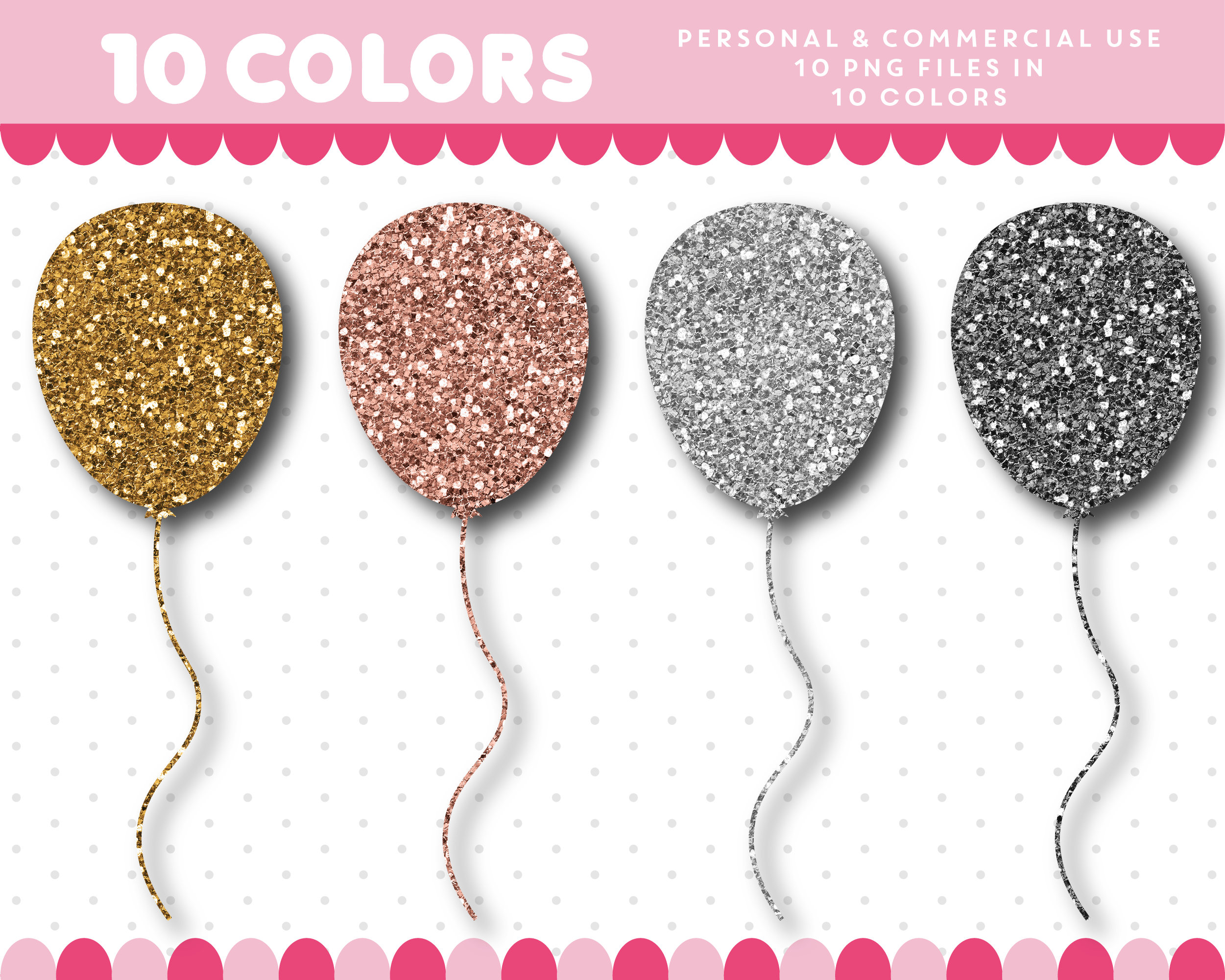 Gold Glitter Balloon Clipart.
