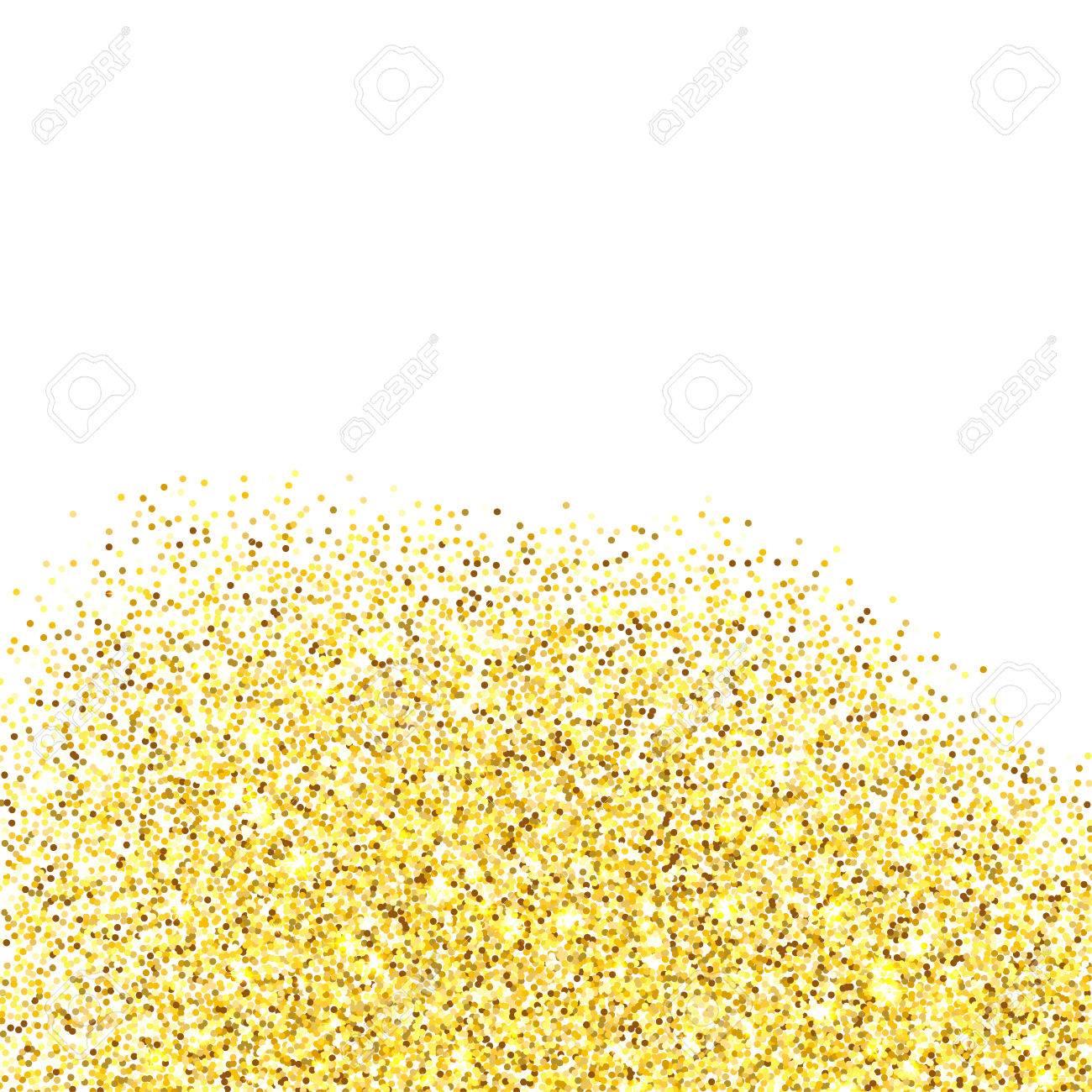 Gold Glitter Border Clipart.