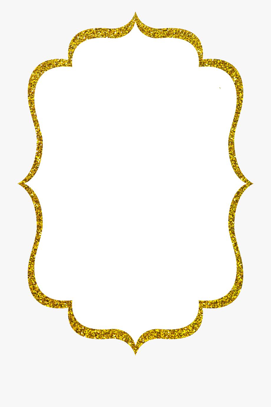 Clip Royalty Free Stock Gold Glitter Border Clipart.
