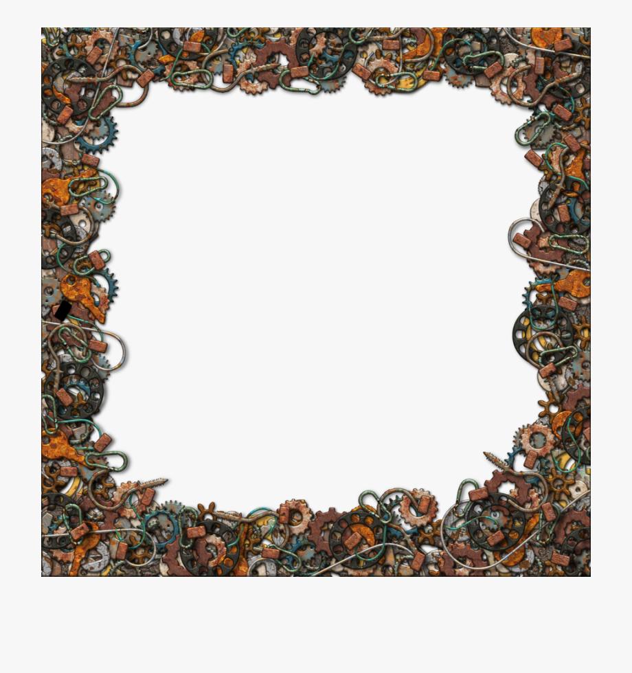 Gold Glitter Frame Clip Art.
