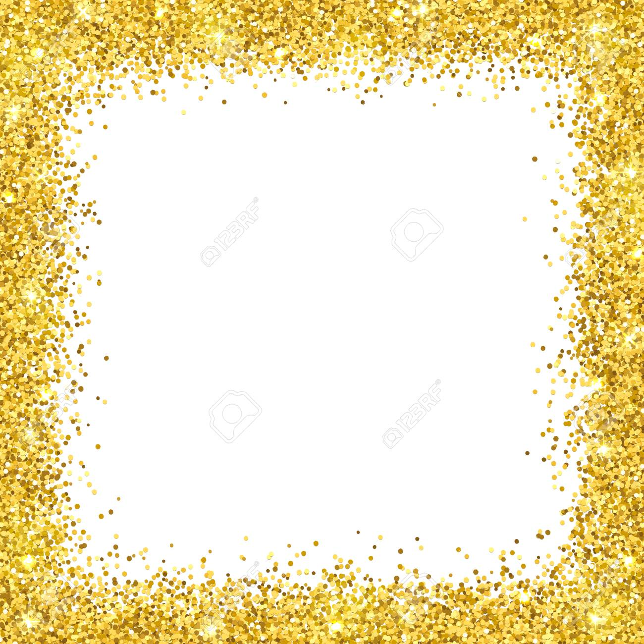 Gold Glitter Border & Free Gold Glitter Border.png.