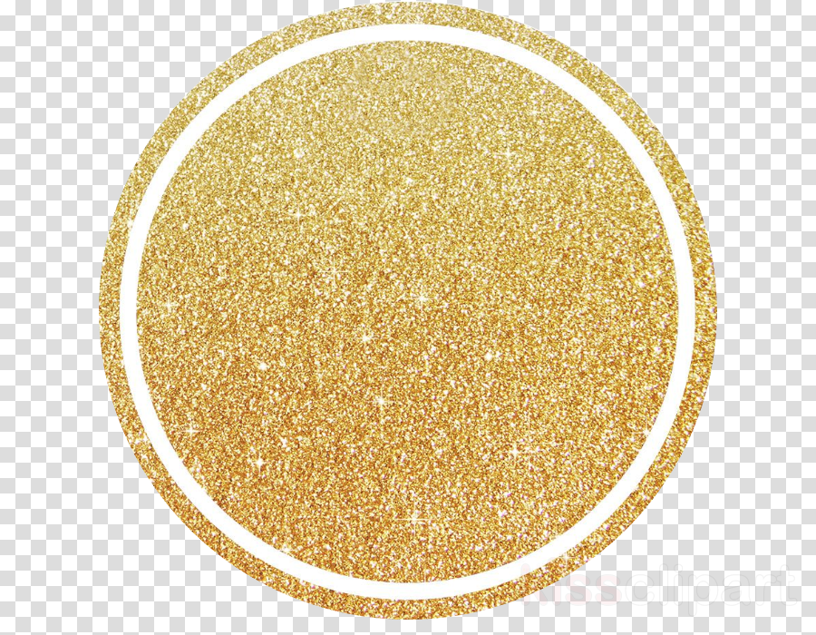 yellow glitter beige circle fashion accessory clipart.