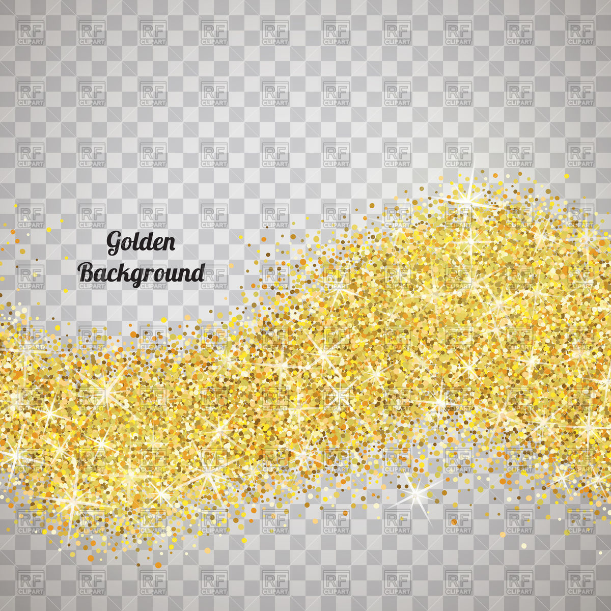 Gold glitter texture on transparent background Stock Vector Image.