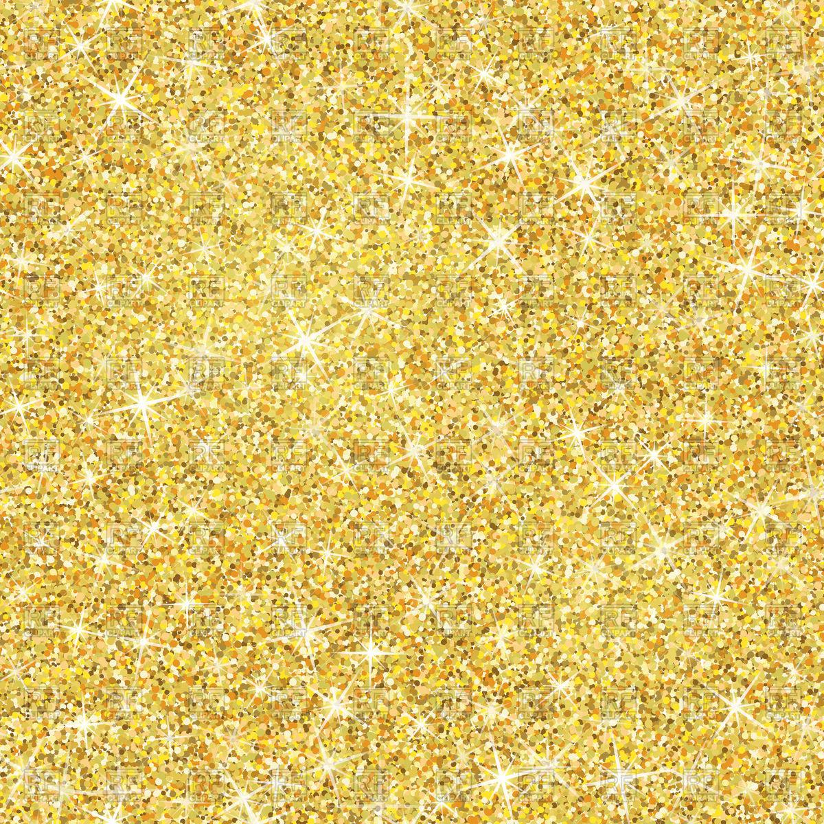 Seamless gold glitter texture Stock Vector Image.