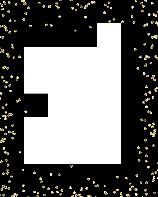 Glitter Gold Confetti Clip art.