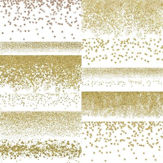 Gold Confetti Borders.